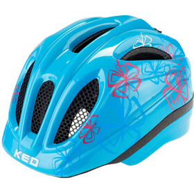 KED Meggy Trend Casco Bambino, lightblue flower